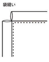 袋縫いサンプル