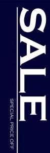 単色のぼり旗のデザイン一例