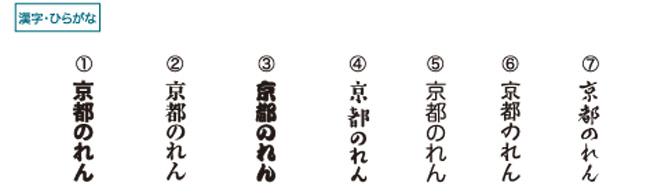 のぼり旗フォント例
